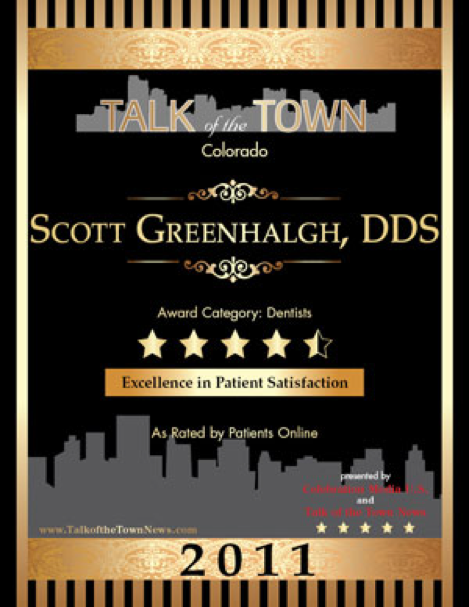 Scott Greenhalgh, DDS named Talk of the Town in Denver