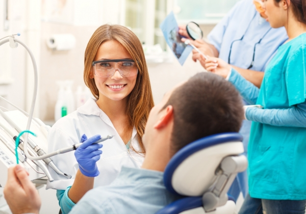 patient at a dental cleaning - Denver dentist Dr. Greenhalgh